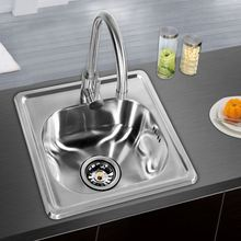 High standard easy clean 304 stainless steel kitchen sink laundry sink cabinet