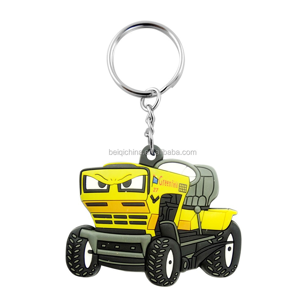 2d custom shaped soft pvc keychain,innovative keychain,OEM pvc keychain
