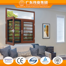 Wood clad casement security anti-theft protection window