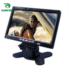Car Styling 12V-24V 7 Inch TFT LCD Touch Screen Car Headrest Display Monitor Rear View Display For Rearview Reverse Backup Camer