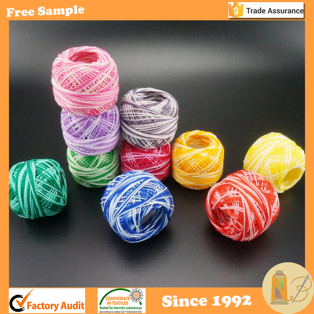 10g Rainbow Colors Crochet Cotton Thread