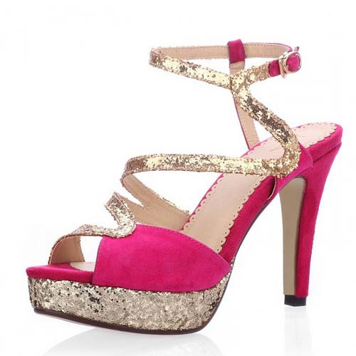 SC1113 manufacturer women high heel shoes european style shoes 2014 new design shoes sequins fashion sandals