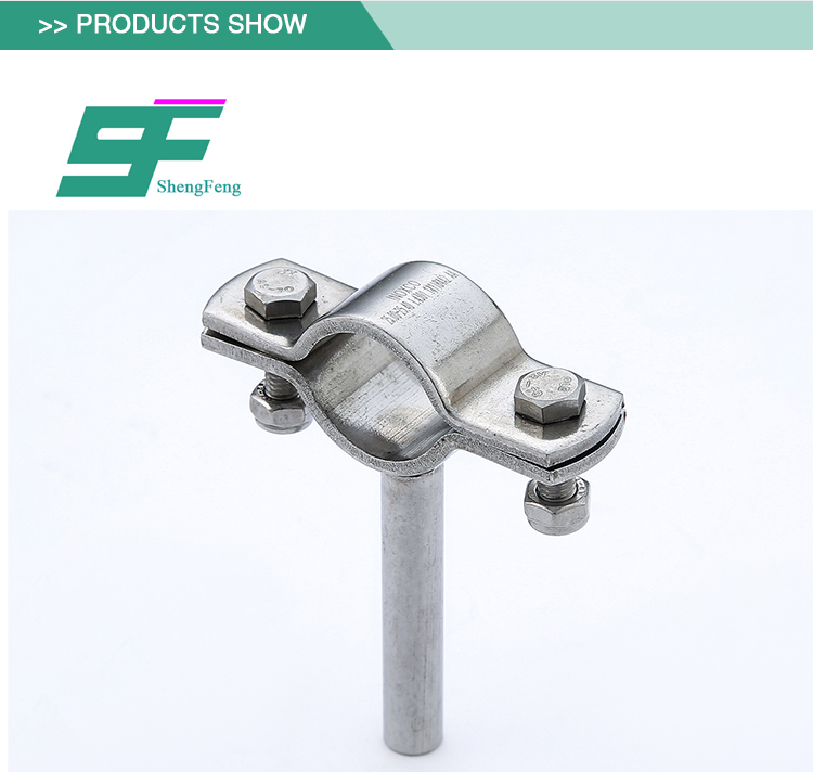 Promotional safe reliable standard stainless steel sanitary pipe holder
