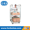 Nesting foldable logistic euro laundry supermarket storage roll containers