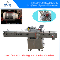 HG Economy position point labeling machine for plastic round bottle