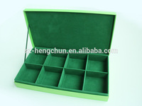 8 compartments tea box /cardboard tea box with 8 divides