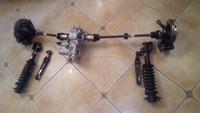 2 speed electirc motor driving independent hanging axle