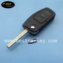 Topbest 3 button flip key remote for Focus flip key Ford focus key 433Mhz, 4D63 chip