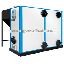 Low pressure industrial fuel fired hot water boiler