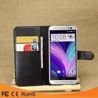 Hot selling leather flip PU case back cover case For HTC one m8