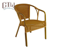 Vintage french rattan furniture bamboo look rattan wicker armchair