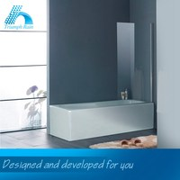 Folding round profile bath screen/shower door