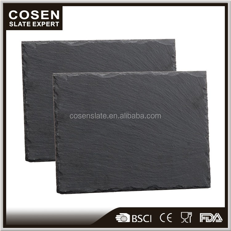 High quality and cheap slate plate for serving food fruits cake