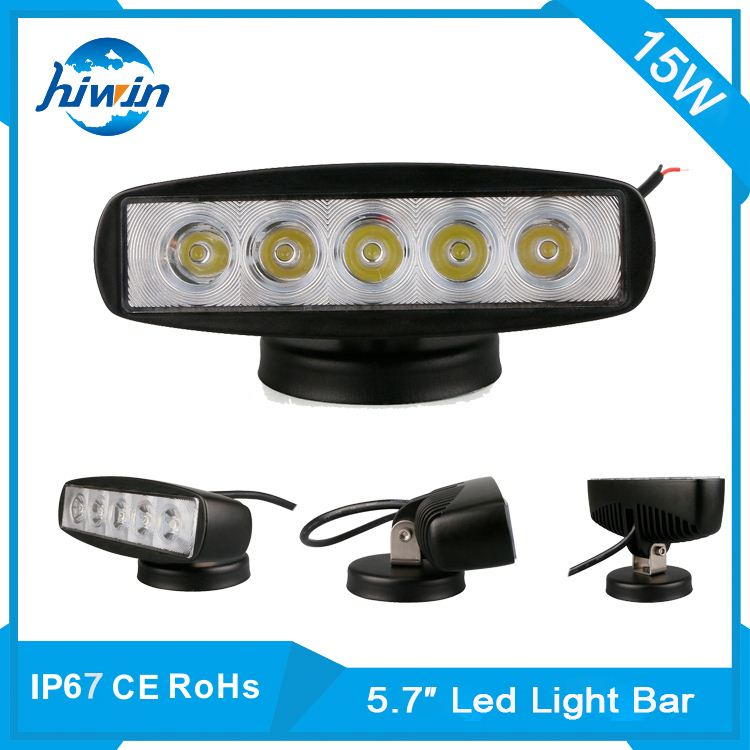 Auxiliary car lights,5.7inch 1300LM new motorcycle 15w led work light for jeep./