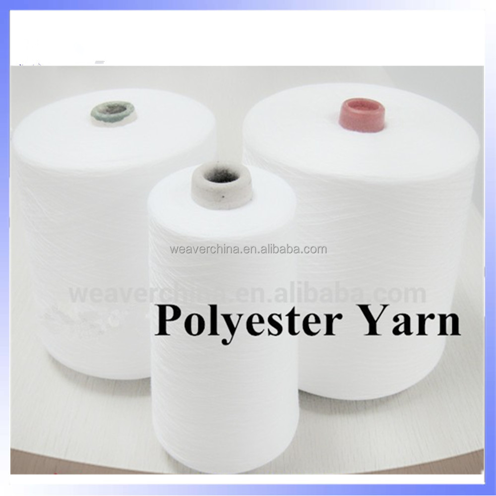 Raw white 100 polyester yarn price