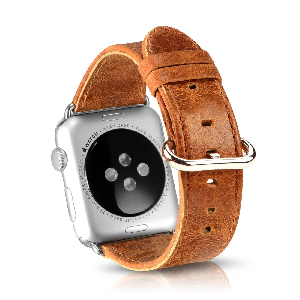 New arrival luxury leather watch strap for apple watch