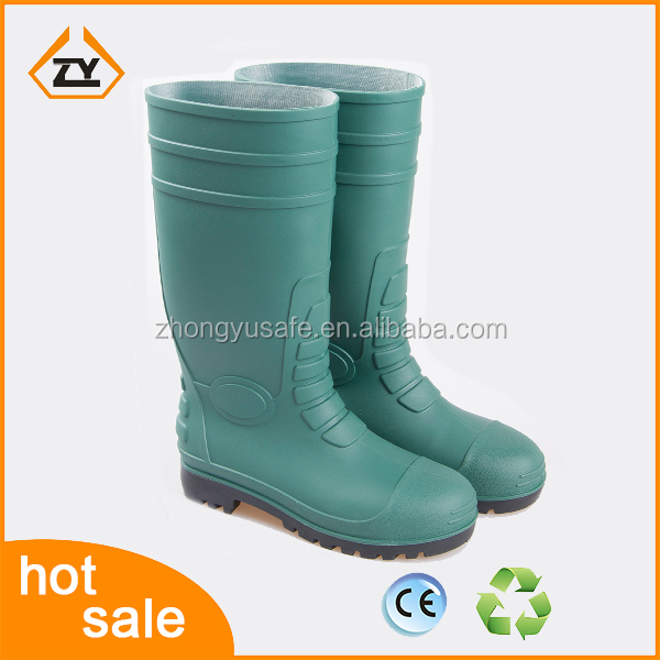 Heavy duty OEM safety shoes for man,steel toe cap safety rain boots factory and manufactuer