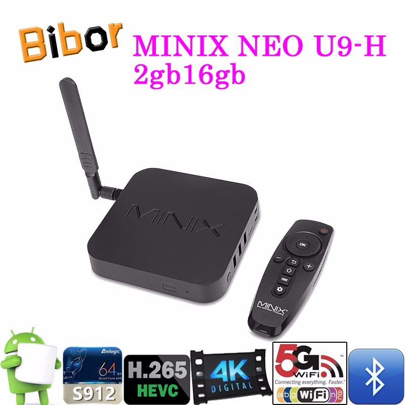Home Theater Picture Perfect 4K Android 6.0 TV Box 2g 16g MINIX NEO U9-H+A3 Air Mouse