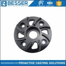 2Cr13 stainless steel 1.0060 cast steel 4340 cast iron investment casting motorcycle rear hub with disc brake
