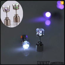 Club party Factory Direct High Quality Light Up Cool Ear Ring Studs Led Cool Earrings