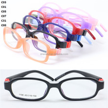 High classic pupil flexible removeable hingless temple TR90 prescription glasses rectangle frame