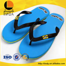 Summer simple bule light color rubber flip flops