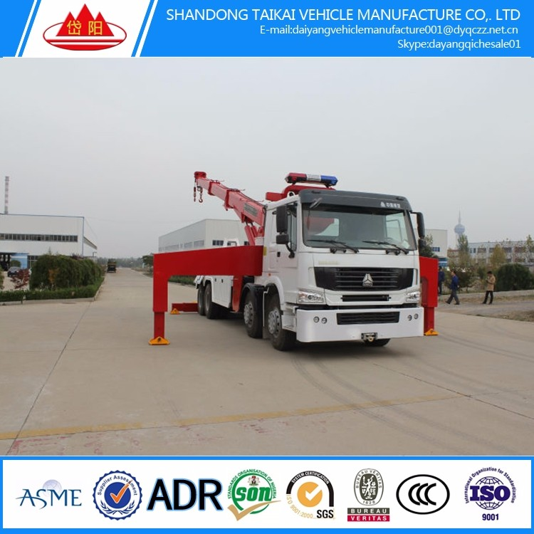 Biggest USED SINOTRUK road wrecker towing <strong>truck</strong> for rescue FOR SALE