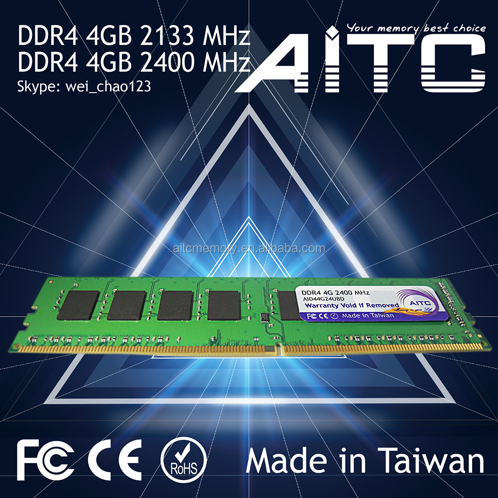 Bset supported Professional AITC Green board 2133 2400MHz 4G longdimm desktop ddr4 sdram ram