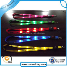 cheapest hot sale fluorescent led lanyards with secure material