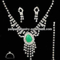 Wedding designer kundan turquoise necklace big fashion jewelry sets