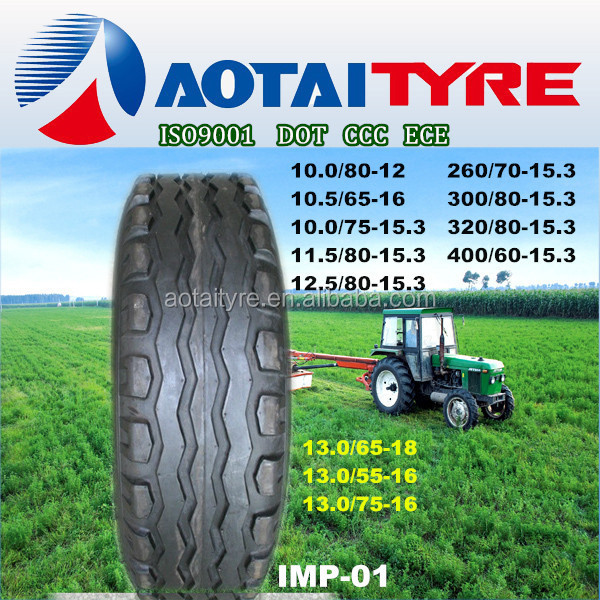 100% New agriculture pneus agricultural&implement tires 12.5/80-15.3