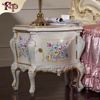 antique hand carved Nightstand -european style bedroom furniture