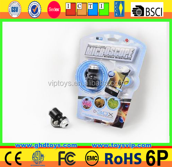 mobile phone microscope science educational toy school mini Microscope toys attach mobile phone novelty educational science <strong>Kids</strong>
