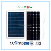 black/blue color solar panel with mono/poly cells