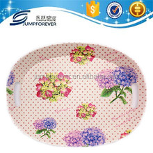 Plastic serving tray flower design /plastic candy tray