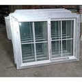 Double tempered glass UPVC grill design sliding windows