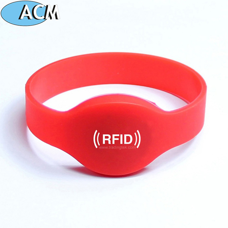 China RFID Factory Silicon Plastic Waterproof arm Wristband Hospital Patient Identification tag
