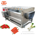 Brush Type Konjac Yam Potato Washing And Peeling Machine Radish Washer Cassava Peeler Machine