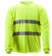 sport breathable fast dry birdeyes lime extreme moisture wicking high visibility long sleeve hi vis fit T shirt EN471