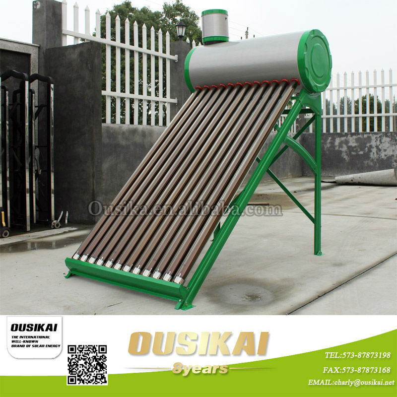 China alibaba OUSIKAI Non-Pressure 304 Stainless Steel Solar Water Heater with assistant tank