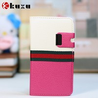 Beauty design genuine leather cell phone case for samsung for sale