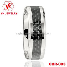 Wholesale YH Jewelry 6mm cobalt chrome rings inlay carbon fiber, fashion Cobalt Chrome Ring,SK cobalt rings Wedding-ring