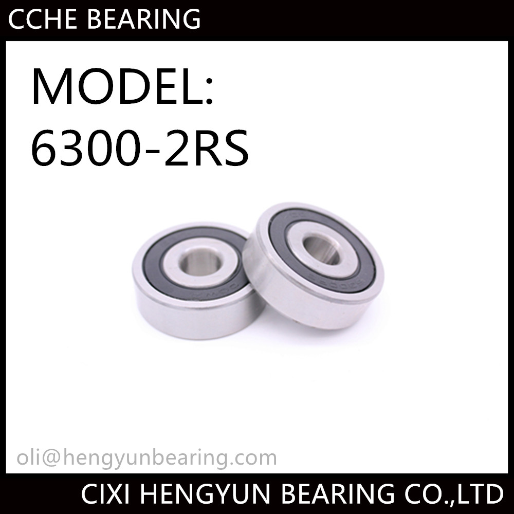 Deep Groove Ball Bearing 6300-2RS 10*35*11mm Chrome Steel