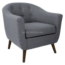 Upholstered Button Tufted Modern fabric Club Chair