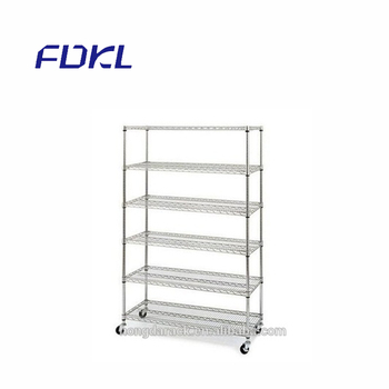 Adjustable CE certificate chrome wire mesh shelving with cheap price