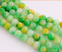 8mm wholesale colorful watermelon round semi-finished loose Chalcedony gemstone strings