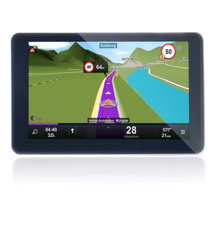 HD 800*480 BT&AV IN 8GB DDR 128M Load Free Newest 3D Map 7inch GPS Navigator