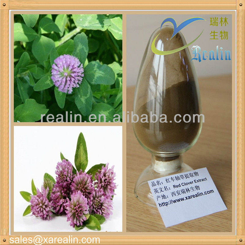 High Quality Red Clover Extract 20% 40% 60% for women's health CAS NO.: 574-12-9