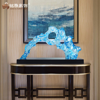 Electroplating custom sculpture abstract clear resin modern art and craft decoration for home