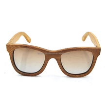 Top selling branded 100% natural bamboo sunglasses engraved logo handcrafted polarized
